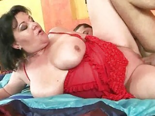 breasty overweight grandma getting drilled hard