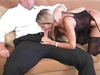 young mommy keeps in shape by engulfing knob and