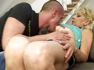 sexy grandma fucking with her youthful paramour