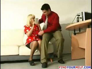 youthful boss seduce older secretary