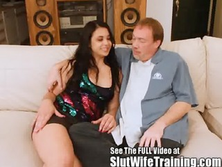 Big ass latina Julia trained to be a good wife