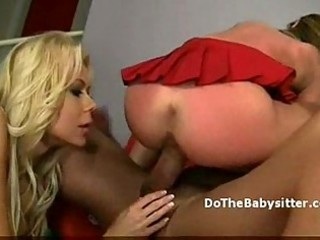 wicked golden-haired aged slut shares knob with