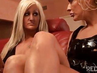 golden-haired milfs strap on lesbos