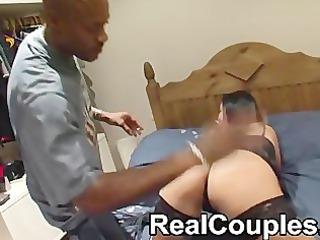dark dude sensi spanks then licks a smaller white