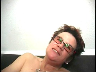 hot grandma and large red (clip)