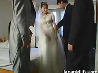 asian bride gets hardcore group fucking part0