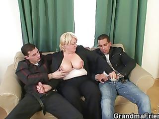 trio fuckfest with granny