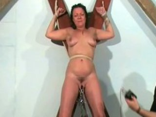 shaz bound and electro torture of older slave