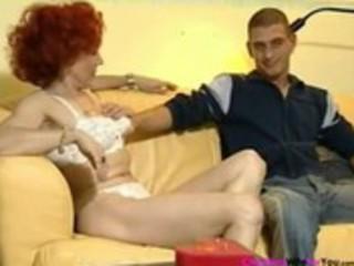 german redhead aged housewife