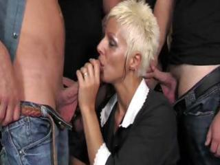 hot older claudia dei group-sex