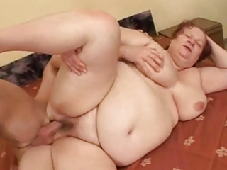 bbw grannie copulates with young