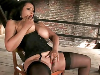 Hot Mistress Gives Handjob To Tied Up Slave!!!!!!!