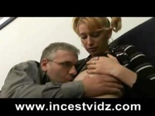 Grandpa gets a young blonde to lick, blow him and