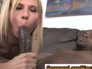 aged couger interracial fuck and facial