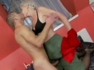 hot granny enjoys sex with juvenile man