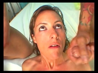 horny mother i gets a double facial