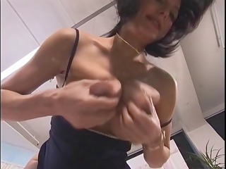 pregnant beauty playing with herself