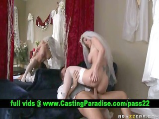kayla paige blonde bride fucking and gets cumshoot