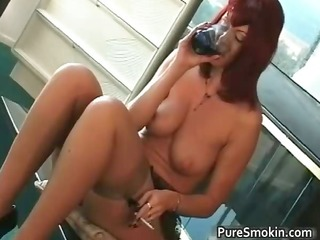 Big boobs red head cunt smoking bondage part5
