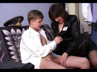 Russian mature rita and boy