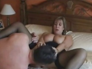 British milf in stockings fucking