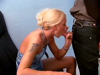 a tattooed milf suck of her boss