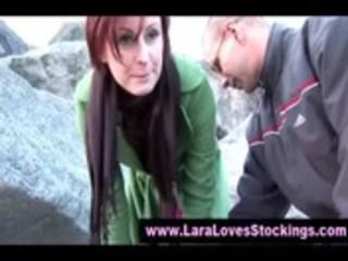 mature british stocking doxy lures lad home