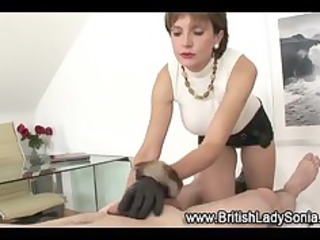 mature stockings bitch gloved cook jerking