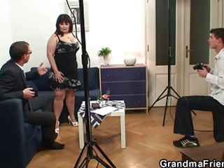 aged fatty takes cocks after photosession