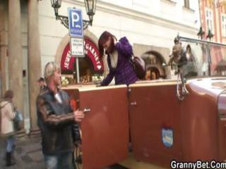 granny tourist receives pounded
