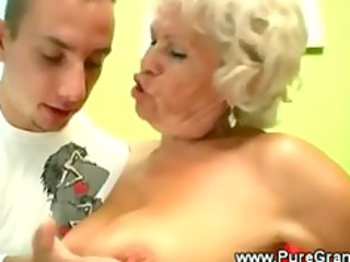 perverted granny blows younger jock