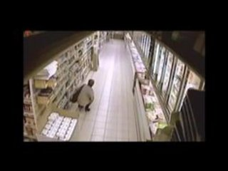 Mature pee and shit in supermarket
