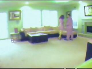 wife caught on hidden spy webcam