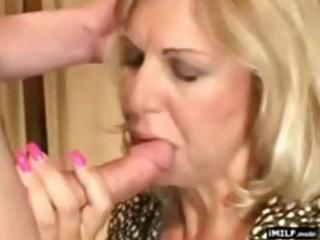 pretty blond milf screwed by a younger chap