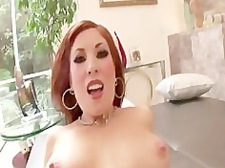 sexy redhead d like to fuck rides jock for facial