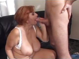 actually busty chubby french mom eats pecker
