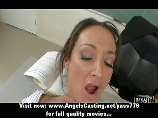 hot dark brown teacher has vagina licked and does