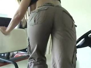 breasty golden-haired wife with large round booty